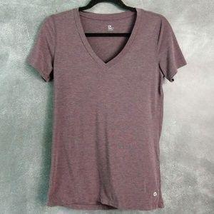 GAP | Gapfit Maroon V-Neck Short Sleeve T-shirt